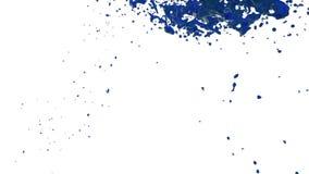 Blaue Flussflüssigkeit wie Saft bewegt sich in Zeitlupe 3d übertragen flüssige CG-Zeitlupe mit Alpha Matt-, vollem hd simuliert stock abbildung