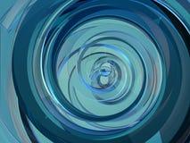 Blaue Form der Zusammenfassung swirly auf schwarzem Hintergrund 3d lizenzfreie abbildung