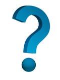 Blaue Frage Stockfoto