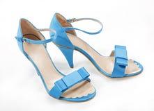 Blaue Frauenschuhe Stockbilder
