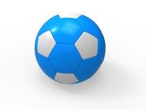 Blaue Fußballkugel auf weißem Hintergrund stock abbildung