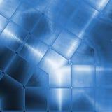 Blaue funkelnde Aluminiumoberfläche Metallischer abstrakter geometrischer Beschaffenheitshintergrund Stockfotos