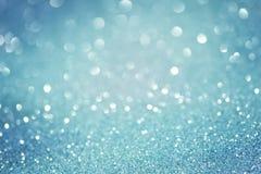 Blaue funkelnde Weihnachtslichter Lizenzfreie Stockfotografie