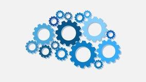 Blaue Gänge Idee oder Lösungskonzept stock abbildung