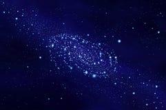 Blaue Galaxie im Weltraum Lizenzfreies Stockbild