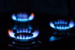 Blaue Gasflamme stockfotos