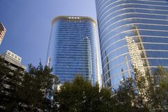 Blaue Gebäude Lizenzfreies Stockfoto