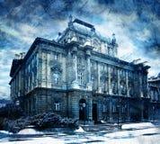 Blaue Gebäudeauslegung Lizenzfreie Stockbilder