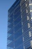 Blaue Gebäudeperspektive Stockfotos