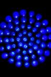 Blaue geführte Leuchten Stockfoto
