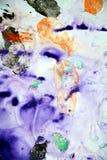 Blaue gelbe schwarze graue Farben, abstrakter Farbenhintergrund Malereistellen lizenzfreies stockfoto
