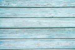 Blaue gemalte Hauswand Stockfoto