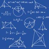 Blaue Geometrie nahtlos Stockbild
