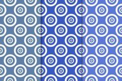 Blaue geometrische Verzierungen Set nahtlose Muster Stockfotos