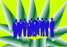 Blaue Geschäftsleute Lizenzfreies Stockfoto