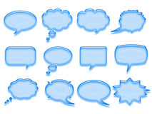 Blaue Gesprächsluftblase Stockfoto