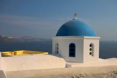 Blaue gewölbte Kirche Lizenzfreies Stockfoto