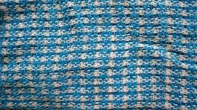 Blaue Gewebebeschaffenheit stockbilder