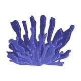 Blaue Geweih-Koralle, tropische Riff-Marine Invertebrate Animal Isolated Vector-Ikone stock abbildung