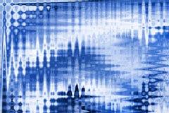 Blaue gewellte Zusammenfassung Stockbilder