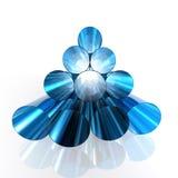 Blaue glänzende Rohre lizenzfreie abbildung