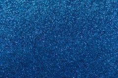 blaue glänzende Weihnachtslichter stockfoto