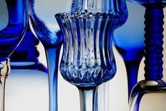 Blaue Gläser Stockbild