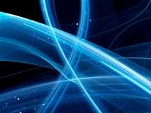 Blaue glühende Kurven Lizenzfreie Stockfotos