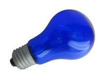 Blaue Glühlampe Stockfotografie