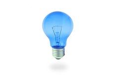 Blaue Glühlampe Stockbilder