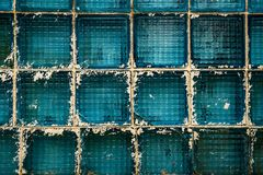 Blaue Glasblöcke Lizenzfreies Stockbild