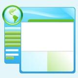 Blaue grüne Erde-site-Schablone Stockfotografie