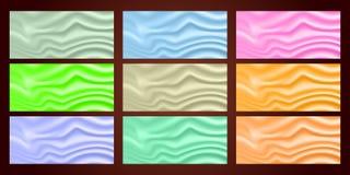 blaue, grüne und orange Farben Schöne Sammlungssatinbeschaffenheit EPS10 lizenzfreie abbildung