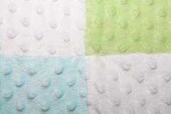 Blaue, grüne und weiße Quadrate und Blasen-Beschaffenheit Lizenzfreie Stockfotografie