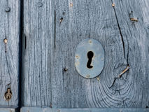 Blaue/graue alte Türbeschaffenheit Lizenzfreies Stockfoto