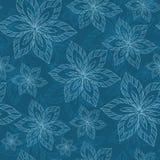Blaue große Blumen auf einem blauen Hintergrund vector nahtlose Zusammenfassung h vektor abbildung
