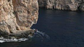 Blaue Grotte stock video footage