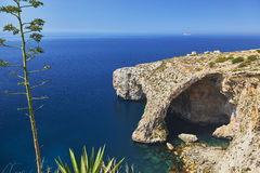 Blaue Grotte, Malta Stockfotos