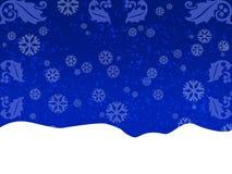 Blaue Grußkarte Stockbild