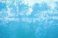 blaue grunge Kleberwand Lizenzfreie Stockbilder