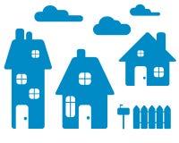 Blaue Häuser Vektor Abbildung