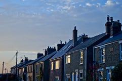 Blaue Häuser Stockbilder