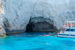 Blaue Höhle von Zakynthos-Insel Lizenzfreies Stockfoto