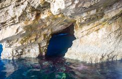 Blaue Höhlen von Zakynthos stockfotografie