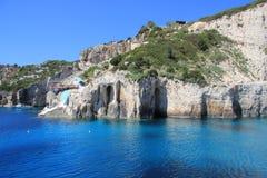 Blaue Höhlen von Zakynthos Lizenzfreies Stockbild