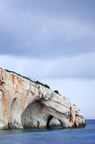 Blaue Höhlen von Zakynthos Stockfoto