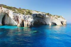 Blaue Höhlen, Zakynthos Lizenzfreie Stockfotos