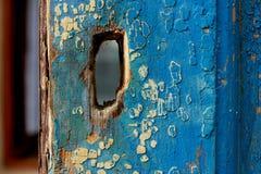 Blaue hölzerne Beschaffenheit entziehen Sie Hintergrund Lizenzfreie Stockfotos