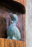 Blaue hölzerne Ente Lizenzfreie Stockfotografie