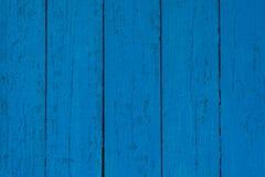 Blaue hölzerne Planken Stockfoto